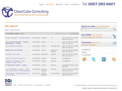 bespoke recruitment agency website