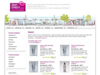 bespoke hair and beauty ecommerce website